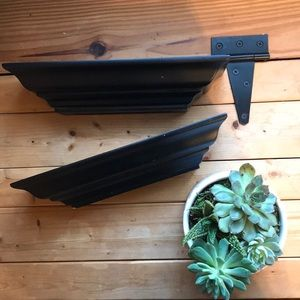 Other - Two small black shelves.